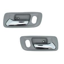 Inside Door Handles - Front Left Driver + Front Right Passenger Gray w/ Chrome