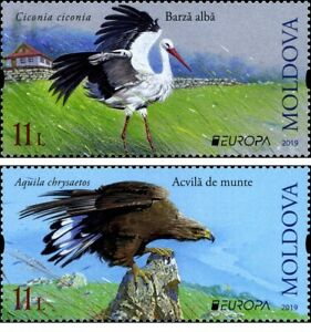 Moldova 2019 EUROPA CEPT 2019 National Birds - set of 2 stamps, MNH