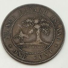 1871 Canada Prince Edward Island 1 One Cent Penny PEI Circulated Coin D846
