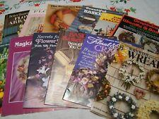 Set of 14 Flower Arranging, Basket Weaving & Wreaths Books & Booklets