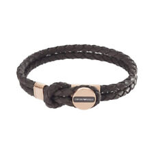 ARMANI Leather Stainless Steel Bracelets for Men