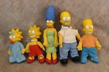 Vintage Lot 5 Burger King The Simpsons Dolls Vinyl Homer Marge Bart Lisa Maggie