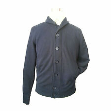 JOE FRESH Men Size S Cardigan Sweater Shawl Collar Cotton Blend Black Color