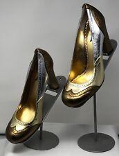 Hale Bob Size 7 Heels Metallic Gold Bronze Silver EUC