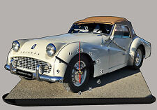 MODEL CARS, TRIUMPH TR3-03, car passenger, 11,8x 7,8 inches  with Clock