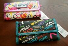 2 XOXO TRIFOLDs (CHALKBOARD MULTI & COLOR POP) trifold wallet GREAT DEAL for 2
