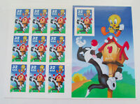 USPS Sylvester The Cat Tweety Bird Complete Sheet 1998 32 Cent Stamps Set of 10