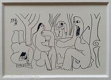 Picasso litografía Edition Madoura 1962: les déjeuners 9.7.61 - VIII
