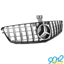 für Mercedes GT LOOK Grill W204 S204 Limo GLANZ CHROM Kühlergrill Frontgrill
