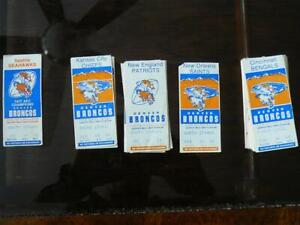 VINTAGE 1979 NFL DENVER BRONCOS TICKET STUBS x 50