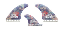 PACIFIC VIBRATIONS Futures   Twin + trailer surfboard Fin flowers
