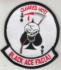 VFA-41 BLACK ACES FAC(A) CLEARED HOT SHOULDER PATCH