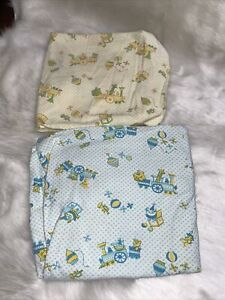 Vintage Carter's Baby Bassinet Sheet LOT Circus Theme
