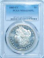 1883 CC PCGS MS64DMPL VAM-5 Dash Under 8 CC/CC Doubled Date Morgan Dollar