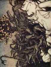 A4 Foto Arthur rackhams 11 El Dragon De Las Hespérides impreso Poster