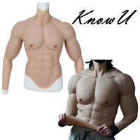 KnowU Silicone Male Muscle Body Suit Strong Arm Crossdress Macho Fake Muscle
