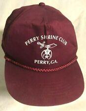 """vintage """"PERRY GA SHRINE CLUB"""" BALL CAP hat SHRINERS masonic GEORGIA SNAPBACK"""