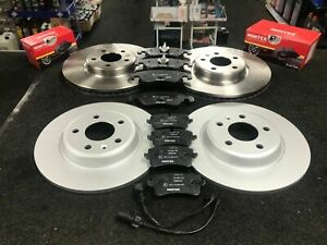FOR AUDI A6 2.0 TDI 177 C7 S LINE FRONT REAR BRAKE DISCS AND MINTEX BRAKE PADS