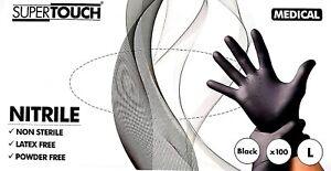 Large Super Touch  Nitrile Disposable Gloves Medical LARGE