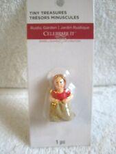 Celebrate It Tiny Treasures Rustic Garden Girl in Potato Sack Race Miniature - N