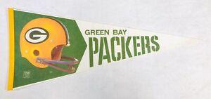 Original Vintage 1970's Green Bay Packers Felt Pennant RF21