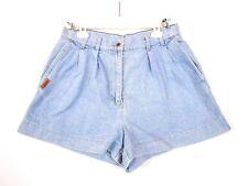 SIGNE INCOGNITO Womens Vtg Cotton High Waist Mum Denim Jeans Hot Pants sz L BA5