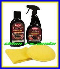 Kit detergente pulitore per pelle CAR PLAN 500ml. sedili auto interni in pelle