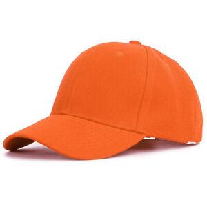 Mens Womens Baseball Cap Strap Back Adjustable Blank Plain Solid Hat Visor Caps