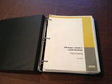 CASE BACKHOE 580 SUPER L SERIES 2  LOADER PARTS CATALOG BOOK MANUAL