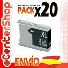 20 Cartuchos de Tinta Negra LC1000 NON-OEM Brother DCP-350C / DCP350C