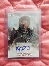 Star Wars Rouge One Series 1 Saw Gerrera / Forest Whitaker Autograph card.