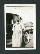 Vintage Photo Girlfriends w/ Model T Ford Coupe Car 424108