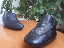 Cesare Paciotti Men's Black Genuine Alligator Slip On Loafers Sz US 10 || UK 9