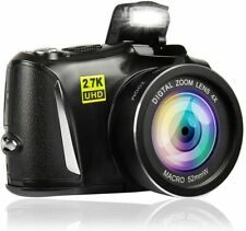 Digital Camera 48 Mega Pixels Vlogging Camera Full HD 2.7K YouTube Camera with 4