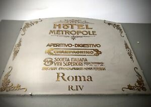 HUGE REPURPOSED VINTAGE FRENCH MIRROR. ITALIAN CAFE SOCIETY GRAPHICS. ROMA R.IV