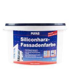 (6,60€/ L) Pufas Siliconharz-Fassadenfarbe 10L weiss, langzeit Filmschutz