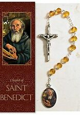 St. Benedict Chaplet (PS353) (rosary) NEW 7.5 Inches W/ Pamphlet