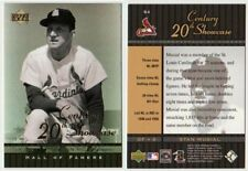 STAN MUSIAL 20th CENTURY SHOWCASE INSERT - 2001 UPPER DECK # S4 - HALL OF FAME