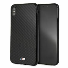BMW iPhone XS Max Case Carbon Fiber Hard Cell Phone Case with M Logo Black