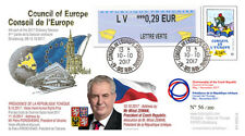 "CE68-IVA FDC Council of Europe ""Miloš ZEMAN President of Czech Republic"" 10-2017"