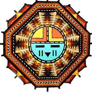Rare Native American Art Weaving Mixed Media Sculpture Hopi Tibe Dawa By DAVIS