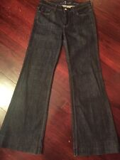 7 For All Mankind Womens Ginger Dark Blue Jeans Size 28