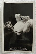 1910 Who'd Think a Bunch of Grapes Contain Headache, Wine Real Photo pc, RPPC