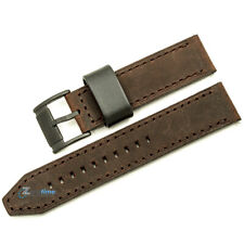 New Original FOSSIL Replacement Watch Strap FS4656 Brown Genuine Leather 22mm
