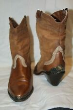Vintage Zodiac Women's Brown Leather Short Ankle 7M~#605194~Gypsy Bohemian