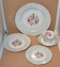 """Vtg Noritake """"Margarita"""" 5 Piece Place Setting - Excellent - 8 Sets Available"""