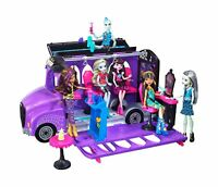Mattel - Monster High - FCV63 - Deluxe Bus and Mobile Salon Toy Playset - Ped...