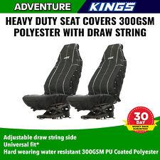 Pair Universal Car 4x4 Seat Covers Polyester Premium Kings