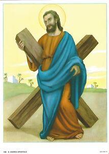 "Catholic Print Picture SAINT St. ANDREW Apostle 7 1/2 x 10"" ready to frame"