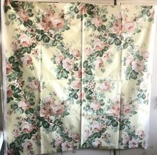 Beautiful 20th C. Printed French Floral Cotton Chintz Fabric  (2971)